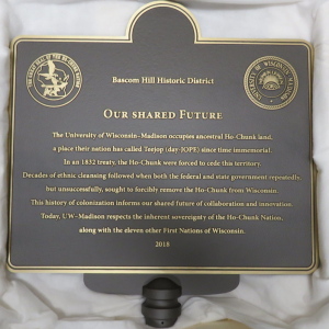 Our Shared Future Plaque
